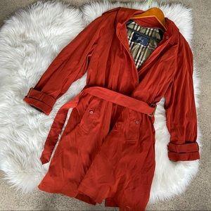 Vintage Burberry Orange Trench Coat Jacket